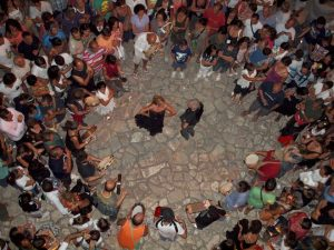 Romolo Crudo durante una ronda a Torrepaduli