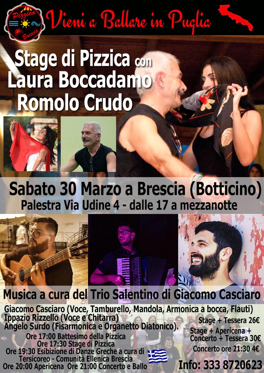 Stage di Pizzica con Laura Boccadamo e Romolo Crudo